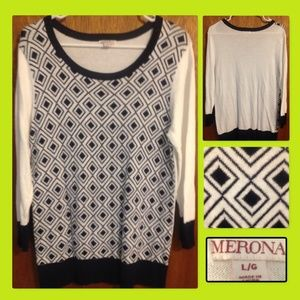 Geometric sweater by Merona size Large.